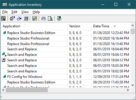 Application Inventory by Funduc Software