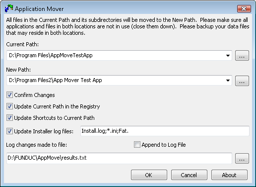 Application Mover by Funduc Software