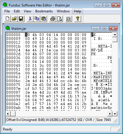 FSHED - FS Hex Editor Screen shot