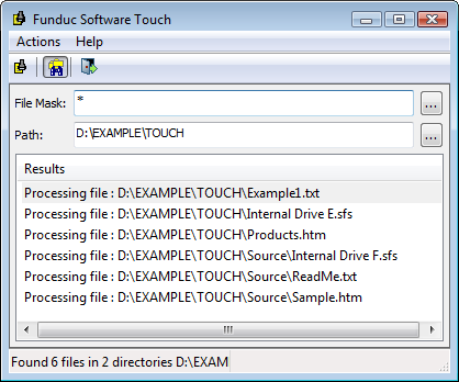 Funduc Software Touch Utility - A free program to change file time, date, and attributes on Windows Vista, Windows 7, Windows 8.